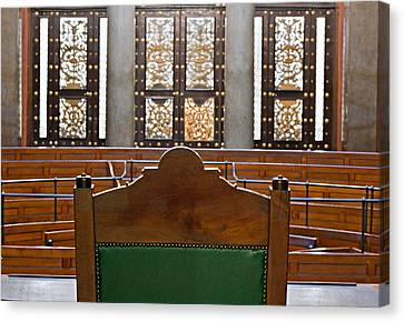 View Into Courtroom From Judges Chair Canvas Print by Ken Biggs