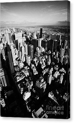 View North East Of Manhattan Queens East River From Observation Deck Empire State Building New York Canvas Print