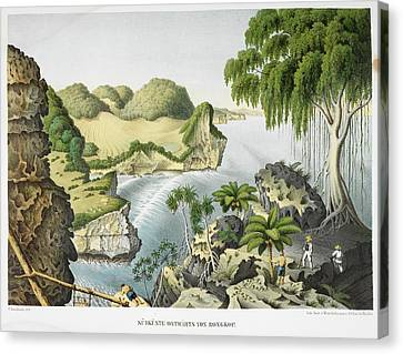 View Of A Coastal Area Canvas Print by British Library