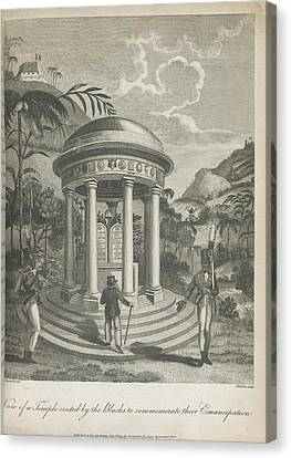 Haitian Canvas Print - View Of A Temple by British Library