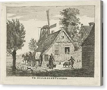 View Of A Village, Hendrik Roosing Canvas Print by Hendrik Roosing