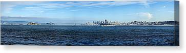View Of Alcatraz Island And San Canvas Print by Panoramic Images