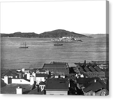 View Of Alcatraz Island Canvas Print by Underwood Archives
