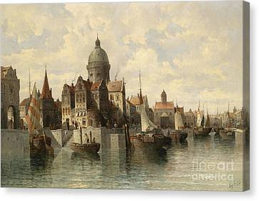 View Of Amsterdam Canvas Print by Celestial Images