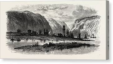 View Of Andernach, The Rhine, Germany Canvas Print