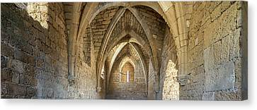 View Of Arches And Ceiling Of An Old Canvas Print