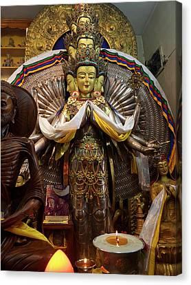 Bodhisattva Canvas Print - View Of Avalokiteshvara Bodhisattva by Panoramic Images