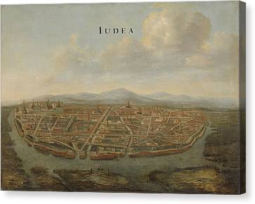 View Of Ayutthaya, Thailand, Attributed To Johannes Canvas Print