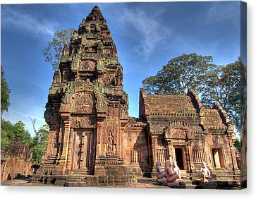 View Of Banteay Srei, Angkor, Siem Reap Canvas Print by Jaynes Gallery