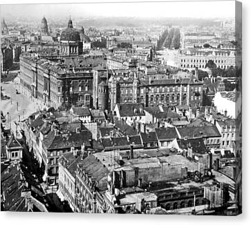 Canvas Print featuring the photograph View Of Berlin Germany 1903 Vintage Photograph by A Gurmankin