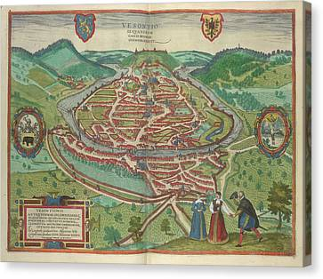 View Of Besancon Canvas Print by British Library