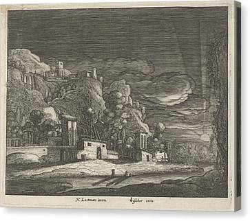 View Of Bethany, Anonymous Canvas Print by Anonymous And Claes Jansz. Visscher (ii)