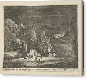View Of Bethany, Nicolaes Lastman, Anonymous Canvas Print by Nicolaes Lastman And Anonymous And Jan Philipsz Schabaelje