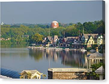Boathouse Row Canvas Print - View Of Boathouse Row  by Bill Cannon