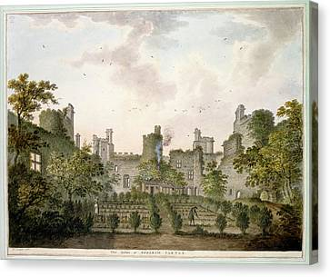 View Of Bodiam Castle Canvas Print by British Library