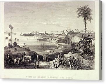 View Of Bombay Showing The Fort Canvas Print by British Library
