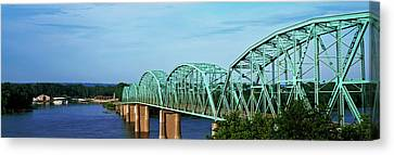 View Of Bridge Over Mississippi River Canvas Print by Panoramic Images