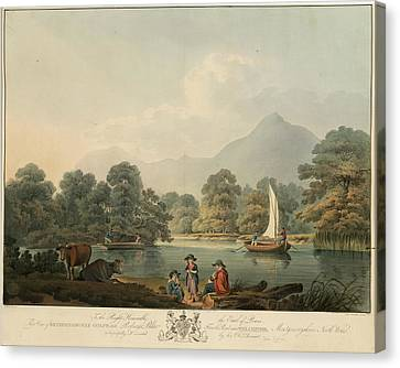Land Feature Canvas Print - View Of Brydden And Moely Golfe by British Library