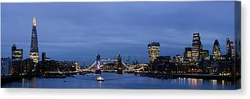 City Of Bridges Canvas Print - View Of Buildings At The Waterfront by Panoramic Images