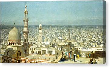 View Of Cairo Canvas Print by Jean Leon Gerome