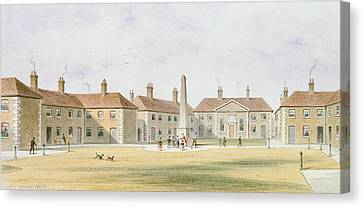 View Of Charles Hoptons Alms Houses, 1852 Wc On Paper Canvas Print by Thomas Hosmer Shepherd