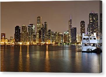 Walter Payton Canvas Print - View Of Chicago From Navy Pier by Frozen in Time Fine Art Photography