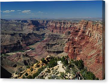 Canvas Print featuring the photograph View Of Colorado River At Grand Canyon by Robert  Moss