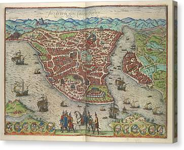 View Of Constantinople Canvas Print by British Library