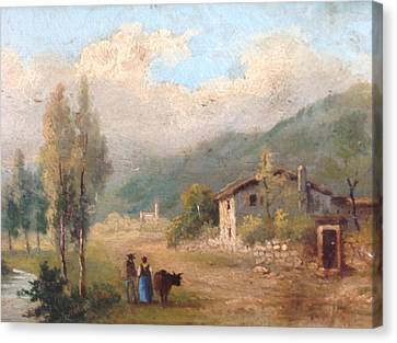View Of Countryside Canvas Print by Egidio Graziani