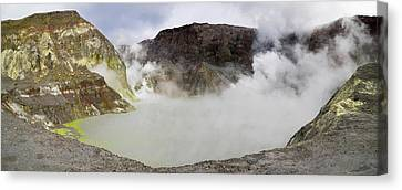 View Of Crater Lake In White Island Canvas Print