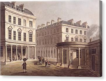 View Of Cross Bath, Bath Street Canvas Print by John Claude Nattes