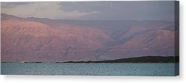 Jordan Canvas Print - View Of Dead Sea, Israel by Panoramic Images