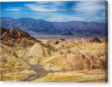 View Of Death Valley From Zabriskie Point Canvas Print by Mimi Ditchie
