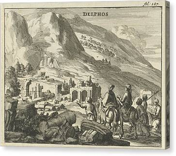 View Of Delphi, Jan Luyken, Jan Claesz Ten Hoorn Canvas Print by Jan Luyken And Jan Claesz Ten Hoorn