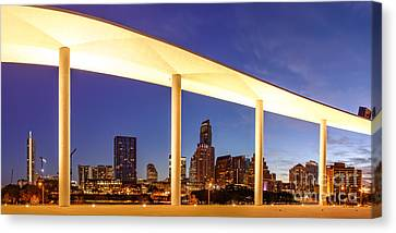 View Of Downtown Austin Skyline From The Long Center - Texas Hill Country - Austin Texas Canvas Print