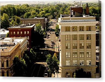 View Of Downtown Walla Walla, Walla Canvas Print by Nik Wheeler