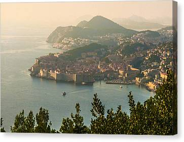 View Of Dubrovnik Peninsula Canvas Print