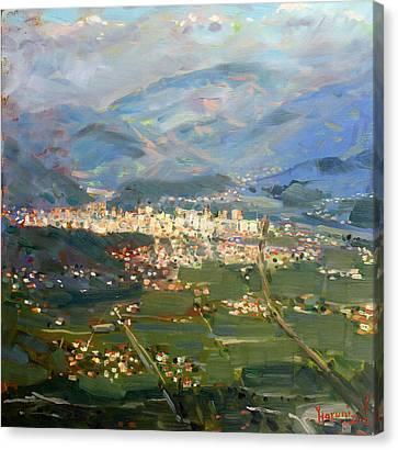 View Of Elbasan City Canvas Print