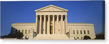 Greek Icon Canvas Print - View Of Entire Us Supreme Court by Panoramic Images