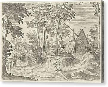 City Scape Canvas Print - View Of Etterbeek, Belgium, Hans Collaert by Hans Collaert (i) And Hans Bol And Claes Jansz. Visscher (ii)