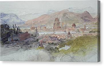Tuscan Hills Canvas Print - View Of Florence by Samuel Palmer