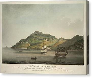 View Of Fort Charlotte Canvas Print by British Library