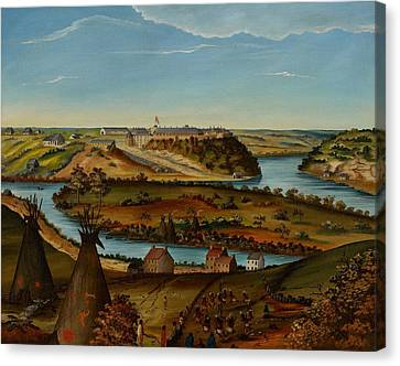View Of Fort Snelling Canvas Print by Edward K Thomas