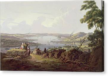 View Of Greenock, Scotland Canvas Print by Robert Salmon