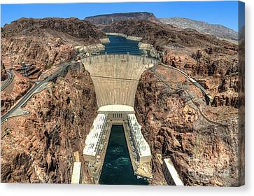 View Of Hoover Dam Canvas Print by Eddie Yerkish