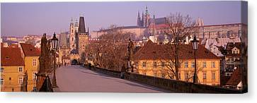 View Of Houses Along The Charles Canvas Print by Panoramic Images