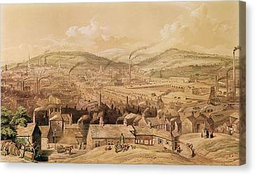 View Of Industrial Sheffield Canvas Print by English School