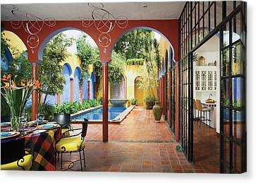 View Of Interior Restaurant Canvas Print by Scott Frances