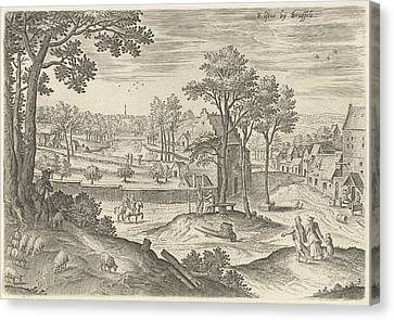 City Scape Canvas Print - View Of Ixelles, Elsene, Brussels Belgium by Anonymous