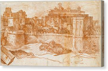 View Of Jerusalem With The Temple Of Solomon Canvas Print